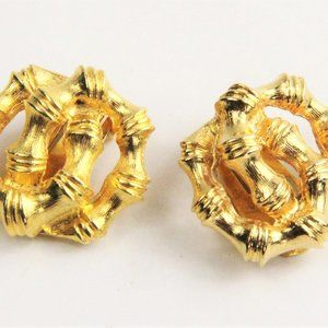 KENNETH JAY LANE 60's VINTAGE BAMBOO EARRINGS